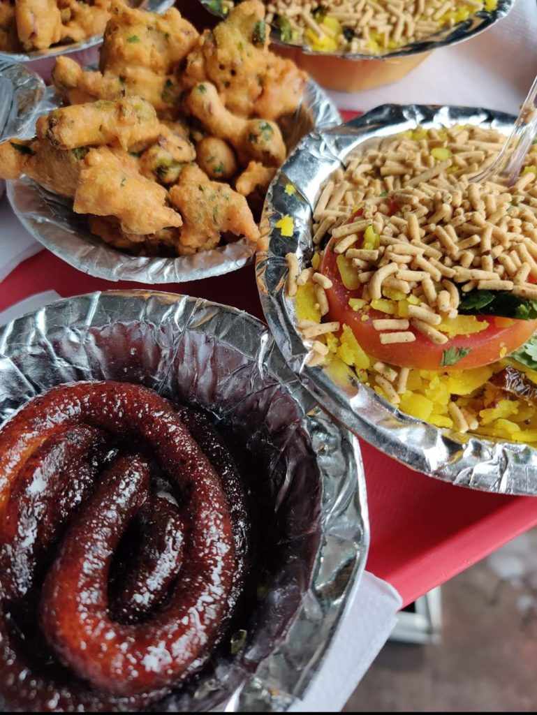 Poha and Mawa Jalebi at Raju Tea Stall, Bhopal